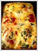 Smoked-lSalmon-Greens-Provolone-egg-casserole